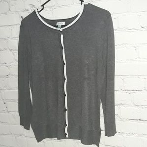 Susina Sz: L Cropped Button Down Cardigan...